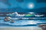 Moonlit Surf by Larry Prellop