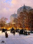 A Stroll on the Plaza by G. Harvey