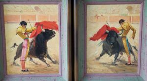 SOLD - Bullfighting Originals by Porfirio Salinas