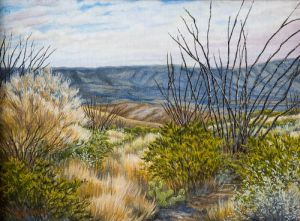 Desert Shadows Original by Sharon Saunders