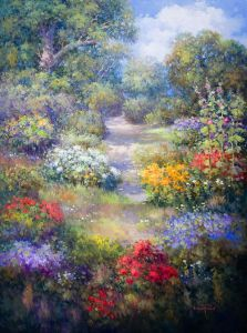 Woodland Flowers, Original by Loveta Strickland