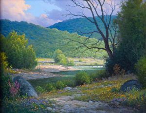 Late Afternoon Light, Original by Jerry Ruthben