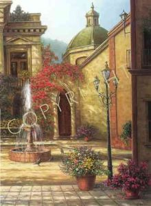 Courtyard Fountain - by Jack Terry
