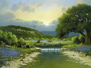 Hill Country Stream by Larry Prellop