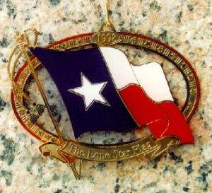 The Official State of Texas Ornament 1998