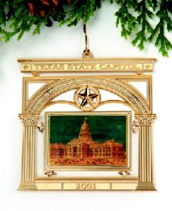The Official State of Texas Ornament 2001