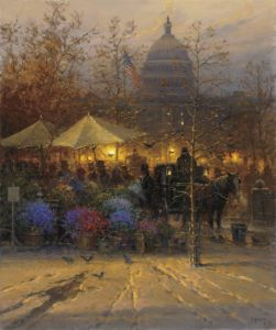 Vendors on the Avenue by G. Harvey