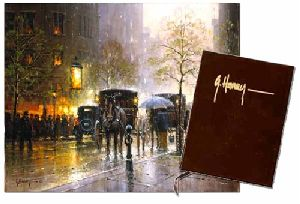 Rainy Day on Central Park South - Collector's Book - City Series by G. Harvey