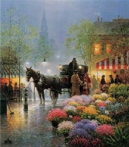 Flower Market by G. Harvey