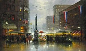 San Francisco Market Street by G. Harvey