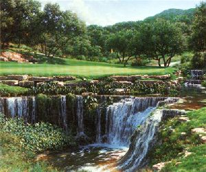 The 16th at Barton Creek by Larry Dyke