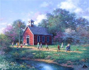The Little Red Schoolhouse by Larry Dyke