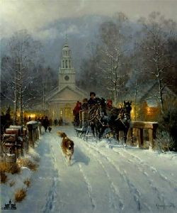 Christmas in the Village by G. Harvey