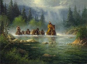 Spring River Crossing by G. Harvey