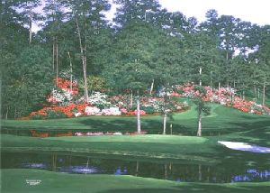 The 15th at Augusta by Larry Dyke